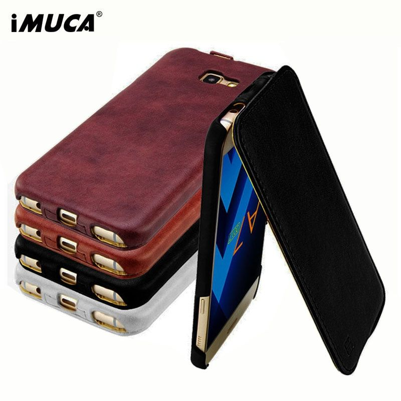 Luxury Leather Case For Samsung Galaxy A7 2017 Cover Case A720 iMUCA Wallet Flip Phone Bag Cover For Samsung Galaxy A7 2017 Case