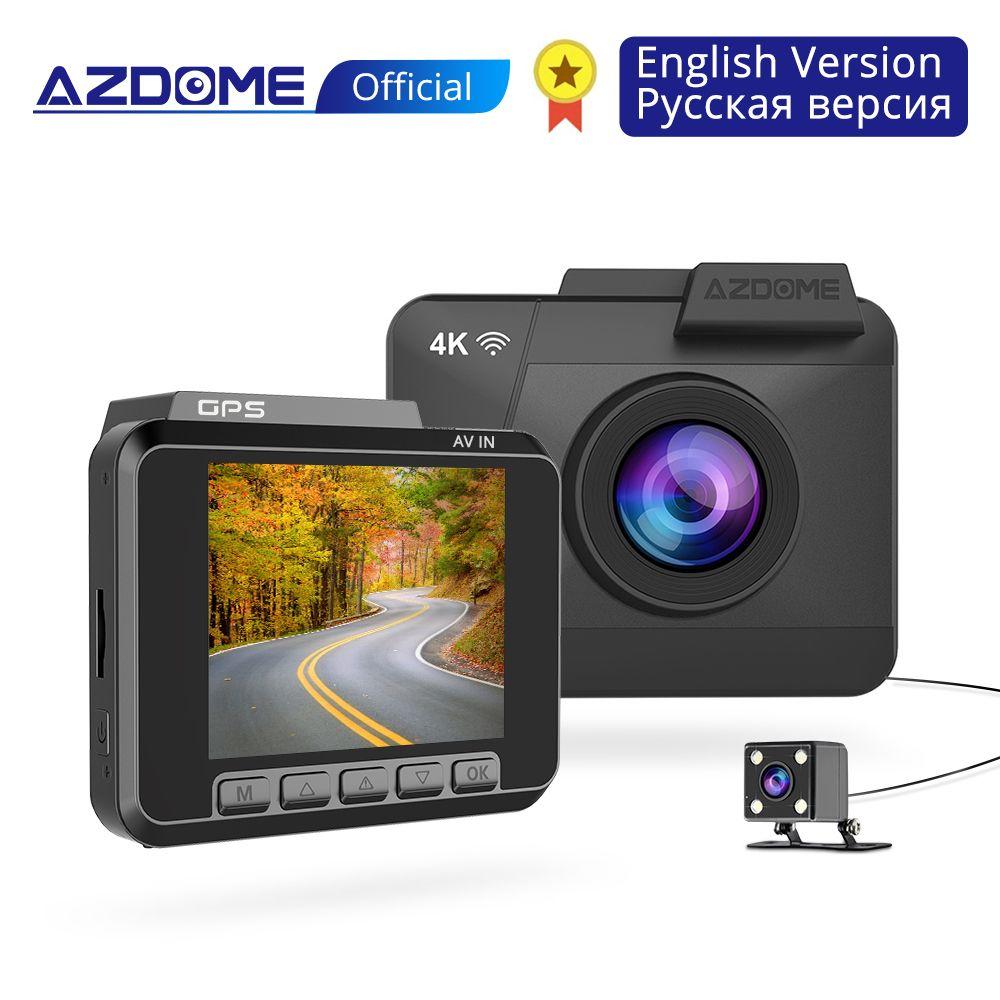 AZDOME M06 4 K/2880*2160 P WiFi Auto DVRs Recorder Dash Cam Dual Lens Fahrzeug Hinten Kamera gebaut in GPS WDR Nachtsicht Dashcam
