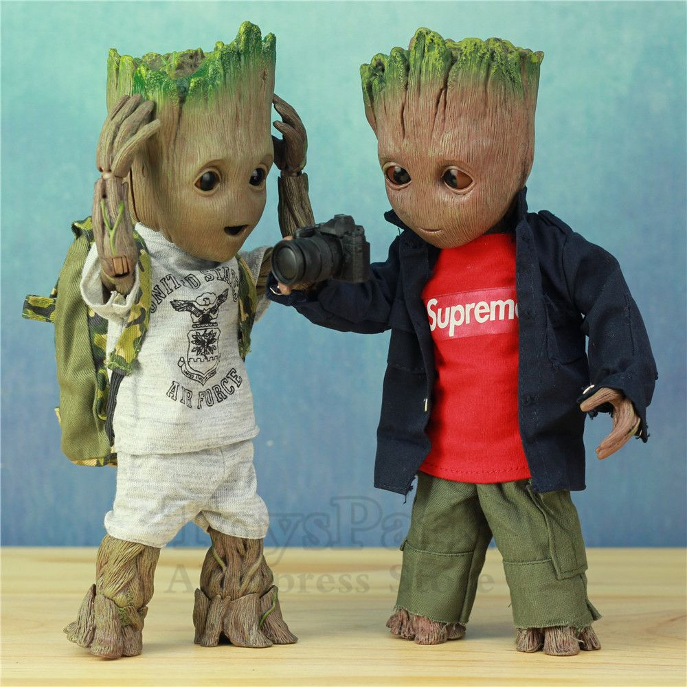 Life Size 1:1 Marvel Guardians of The Galaxy Avengers Cute Baby Young Tree Man BJD 25CM Action Figure KO's HT Hot Toys Legends