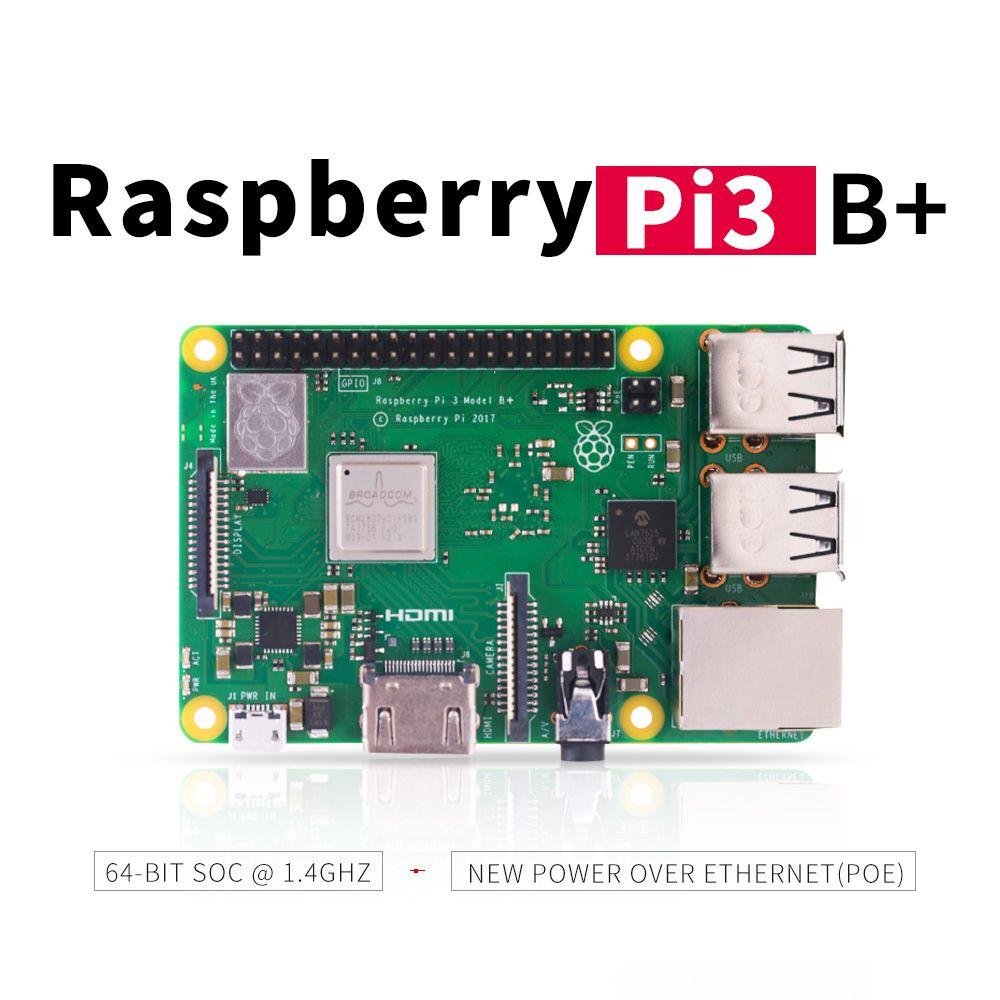 2018 nouveau Raspberry original Pi 3 modèle B + (plus) intégré Broadcom 1.4 GHz quad-core 64 bits processeur Wifi Bluetooth et Port USB
