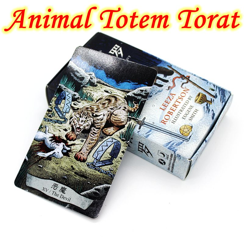 Neues Design Attraktive Karten Tier Totem Tarot Brettspiel 78 Teile/satz Karten Game Edition Tarot Brettspiel Für Familie