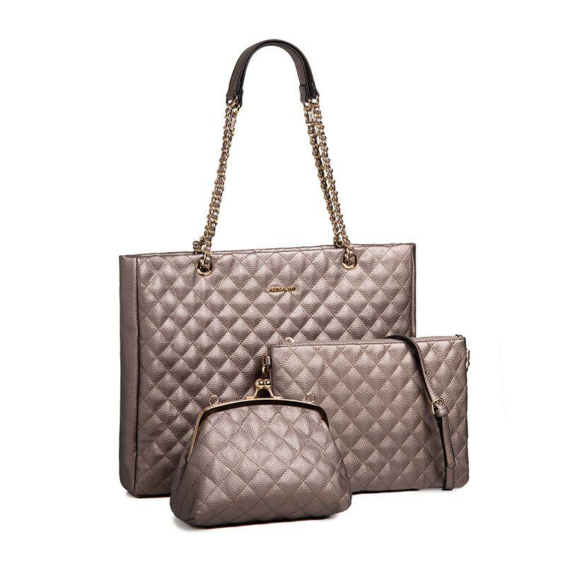 AMELIE GALANTI EIN set von Drei Multifunktionale frauen taschen Solide PU Leder Verbund Tasche Crossbody Schulter Taschen für Frau