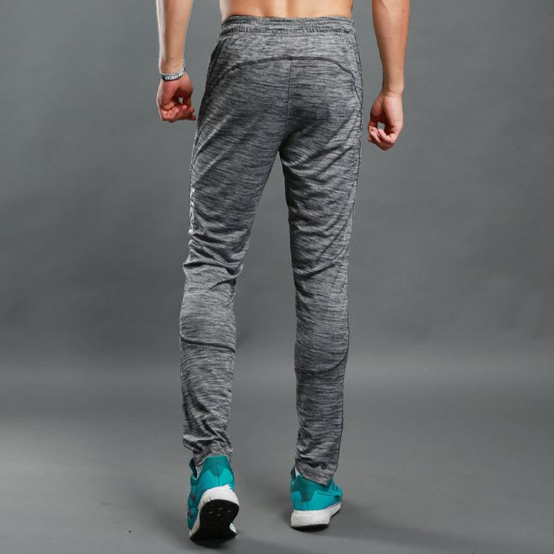 Vertvie Sweat Pants Summer Jogging Trousers Fitness Sport Pants Men Elastic Breathable Grey Running Training Pants Basketball