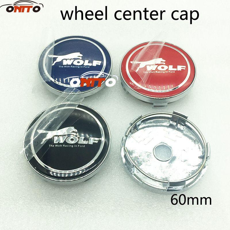 4pcs Auto accessories 60mm auto wheel center logo cover label Sticker wheel hub emblem cap for wolf