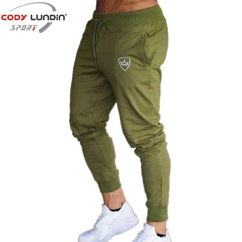2018 Nouveau Hommes Joggers Marque Pantalons Masculins Pantalons Casual Pantalons de Survêtement Jogger gris Foncé Casual Élastique coton GYMNASES Fitness Workout pan
