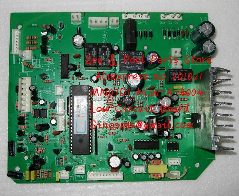 Low Voltage circuit board for Chinese spa controller Pack MN07D1 HLW-A-8004
