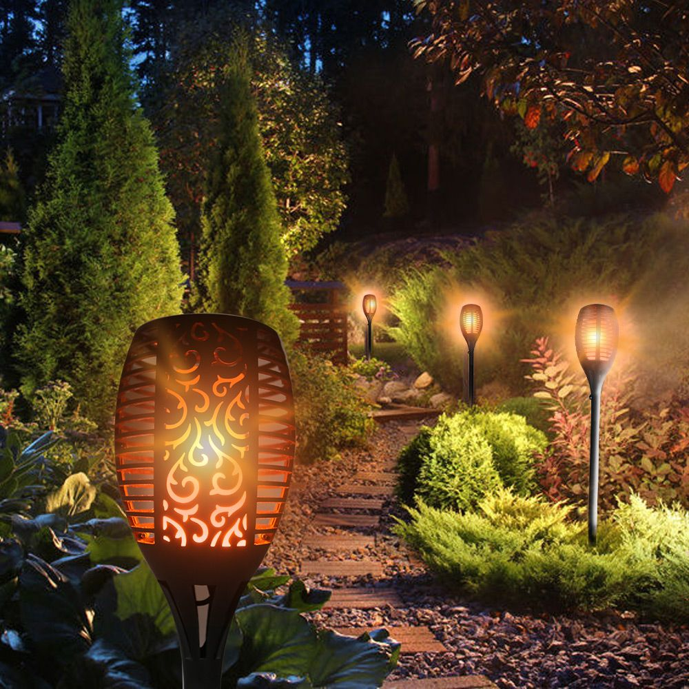 LightMe Bright Torch Light LED Solar Lamp Waterproof Flame Flickering Landscape Garden Lamp Outdoor Modern Decor Lighting Lamp