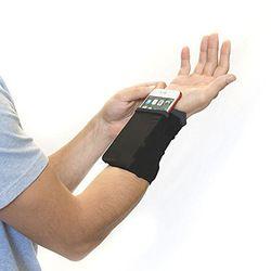 Gym Radfahren Laufen Telefon Arm Tasche Armband Badminton Tennis Schweißband Handgelenk Unterstützung Tasche Handgelenk Brieftasche Beutel Arm Band Tasche