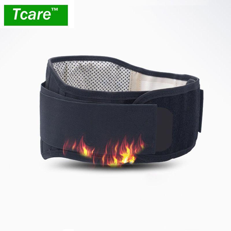 * Tcare réglable Tourmaline auto-chauffant thérapie magnétique taille soutien ceinture lombaire dos taille orthèse Double bande soins de santé