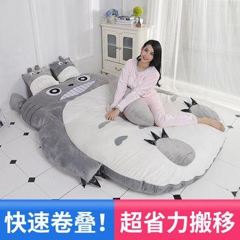 Матрац с героем мультфильма Тоторо диван-кровать для ленивых один мультфильм Татами Коврики прекрасный творческий маленькая спальня для д...