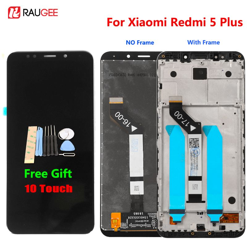 Xiaomi Redmi 5 Plus LCD Display Touch Screen 100% New FHD 5.99 Digitizer Assembly Replacement Accessory For Redmi5 Plus