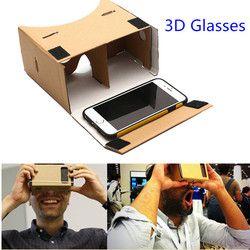 HESTIA Google Cardboard 3d Glasses Virtual Reality Glasses Vr Box DIY Google Cardboard Glass For Iphone Huawei 6 Sony Xperia Z