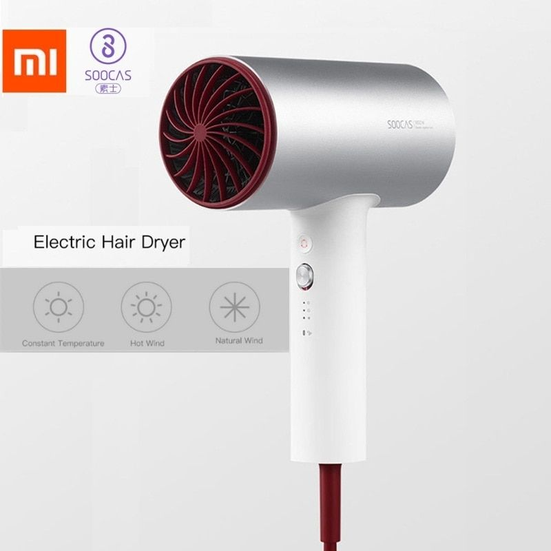 Xiaomi Mijia SOOCAS Soocare H3 Negative Ions Professional Quick Drying Electric Hair Care Dryer Tool Smart Home Kits Dryer