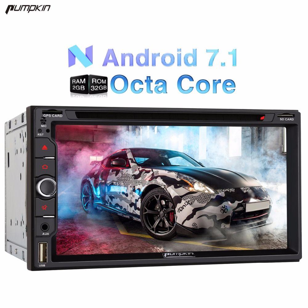 Pumpkin 2 Din 6.95'' Android 7.1 Universal Car DVD Player GPS Navigation Qcta-core Car Stereo DAB+ Wifi 3G FM Rds Radio Headunit