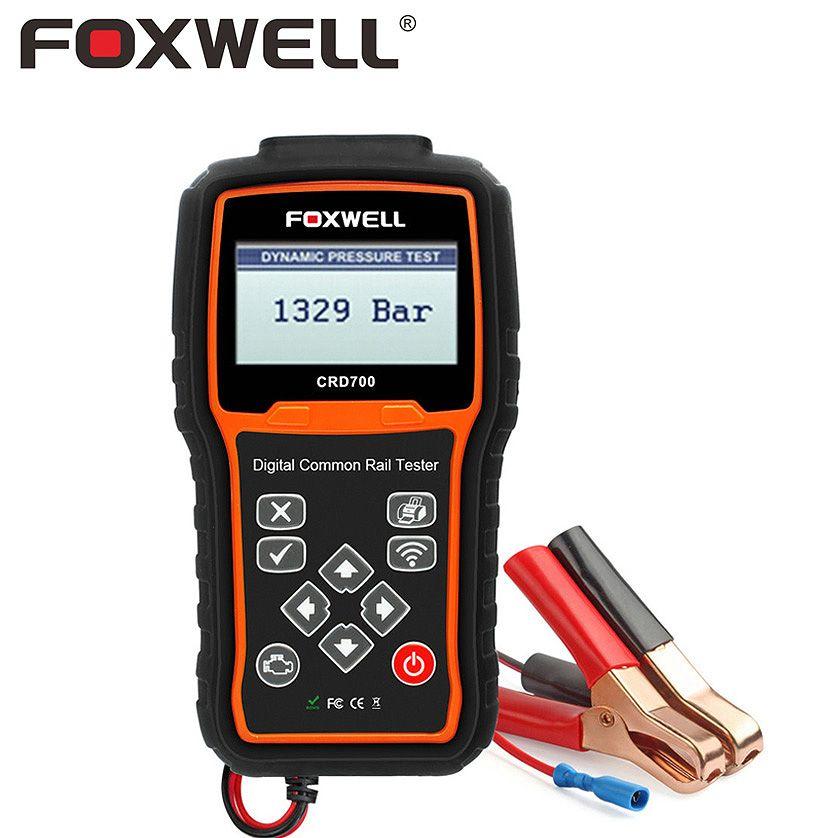FOXWELL CRD700 Digital Common Rail Pressure Test Diagnostic Tool Check High Pressure Pump Bar Automatic Engine Start Test Adjust