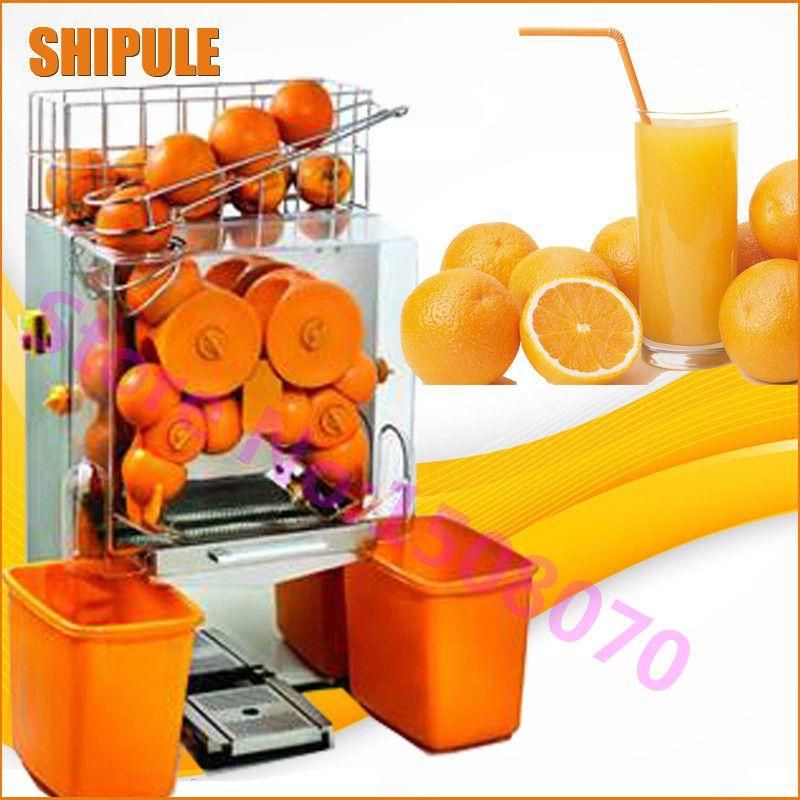 SHIPULE Full automatic stainless steel commercial orange juicer machine , electric 2000E-1 orange juice making machine price