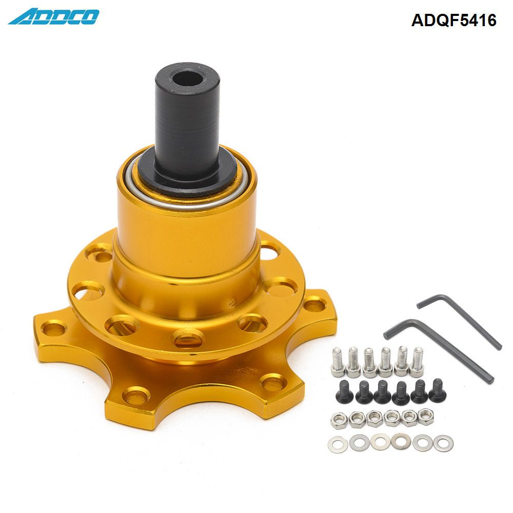 ADDCO Car Race Rally Off Quick Release Boss Kit Weld On Fit Steering Wheels ADQF5416