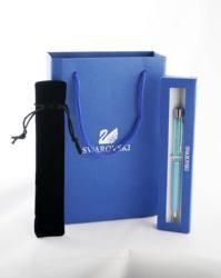Cadeau de Mariage De luxe Stylo avec marque retail box case cadeau sac à main velvetpouch cristal stylo