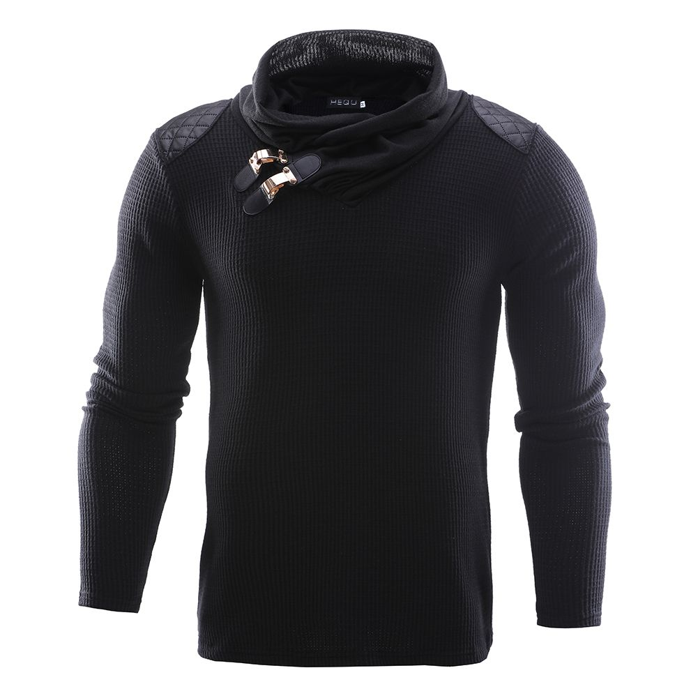 2018 New Spring Autumn Fashion Brand Casual Sweater O-Neck Spliced Slim Fit Knitting Mens Sweaters Pullovers Men Pullover M-2XL