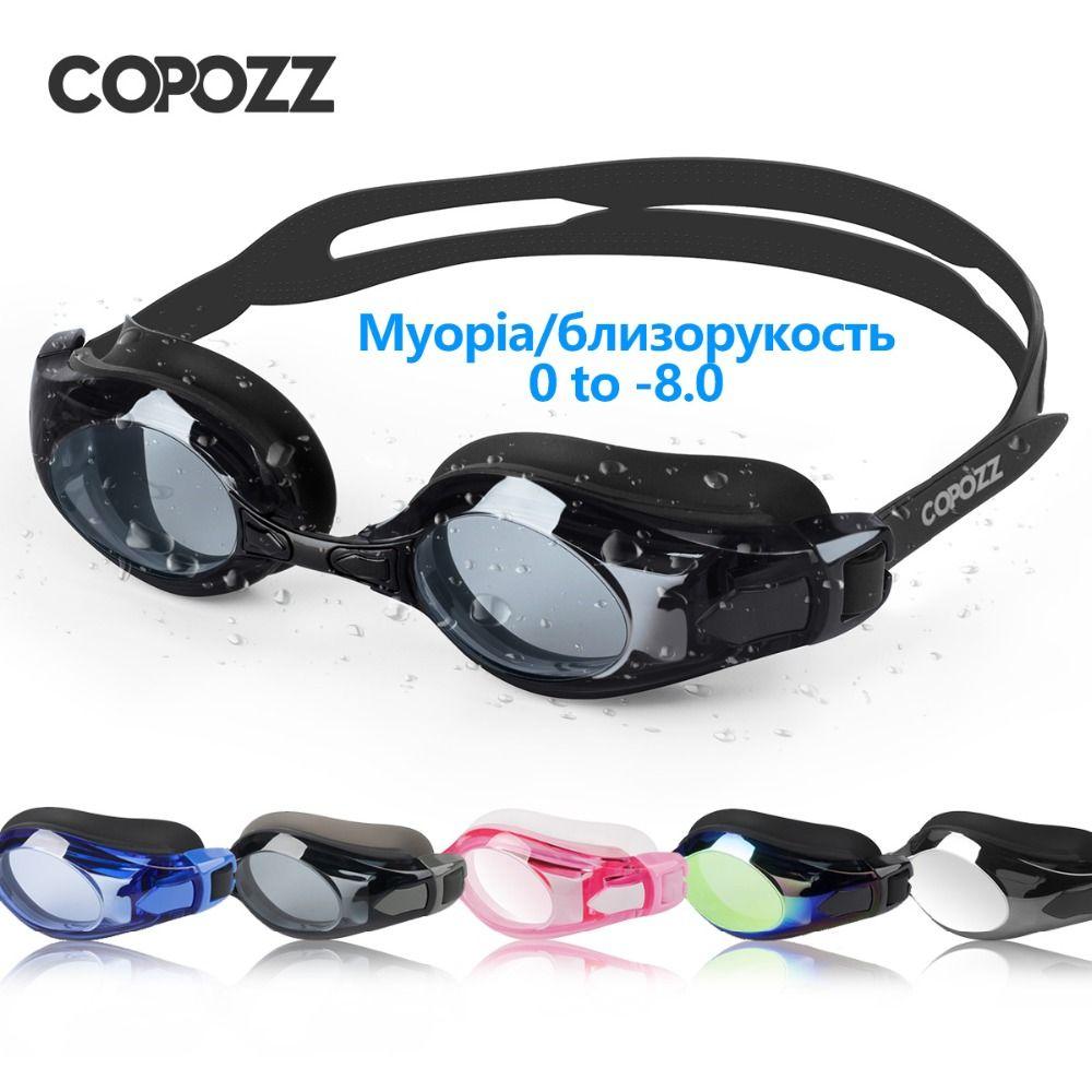 COPOZZ Swimming Goggles Myopia 0 -1.5 to -8 Support Anti fog UV Protecion Swimming Glasses Diopter Adult Men Women Zwembril 2018