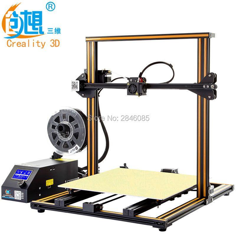 Creality 3D Offizielle Upgrade Version CR-10 4 s Dual Z stange + lebenslauf druck nach dem ausschalten + Filament erkennen /sensor 3D Drucker Kit