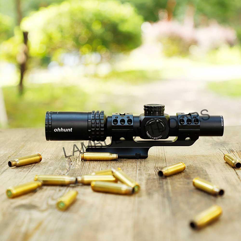 Ohhunt Wächter 1-6x24 IR Jagd Optische Kompakte Sehenswürdigkeiten Glas Geätzt Absehen Rot Beleuchten Taktische Schießen Zielfernrohr