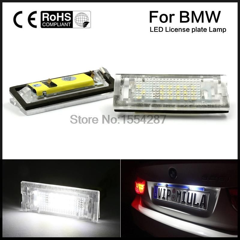2x Error Free LED Number License Plate Light For BMW E39 5D 5 Door Wagon Touring