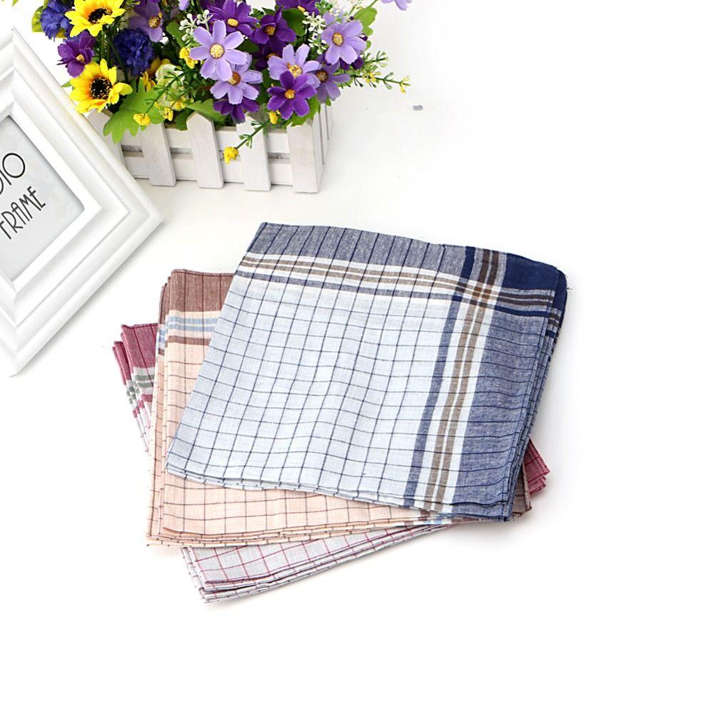 15 stücke Herren 100% Baumwolle Plaid Einstecktuch Einstecktuch Taschentuch 40x40 cm