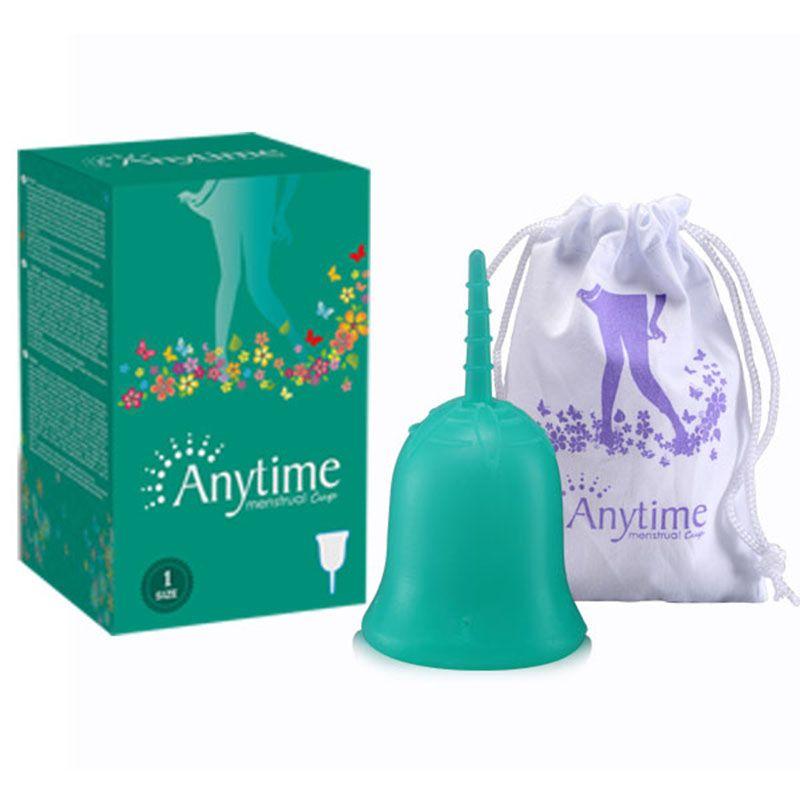 À tout moment D'hygiène féminine Dame Coupe Menstruel Tasse En Gros Réutilisable Silicone de Qualité Médicale Pour Les Femmes Menstruation
