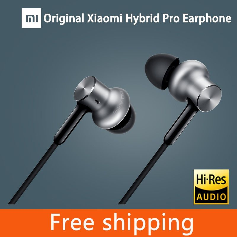 100% Original Xiaomi Hybrid Pro HD Earphone with Mic In-Ear HiFi noise canceling Headset Circle Iron Mixed For Xiaomi note 4 / 5