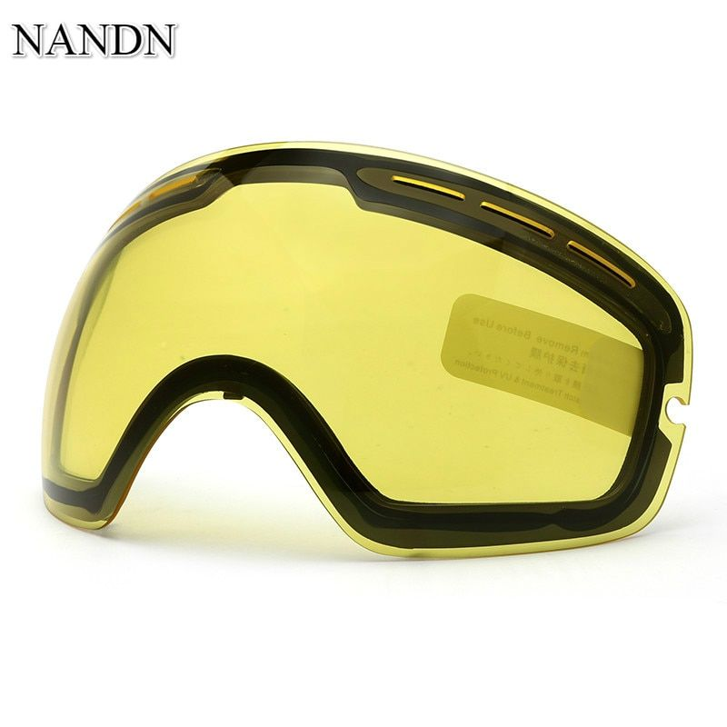 NANDN Night And Day Vision Double Layer Anti Fog Ski Goggles Lens Changeable Lenses NG3 Original DIY Skiing Goggle Extra Lens