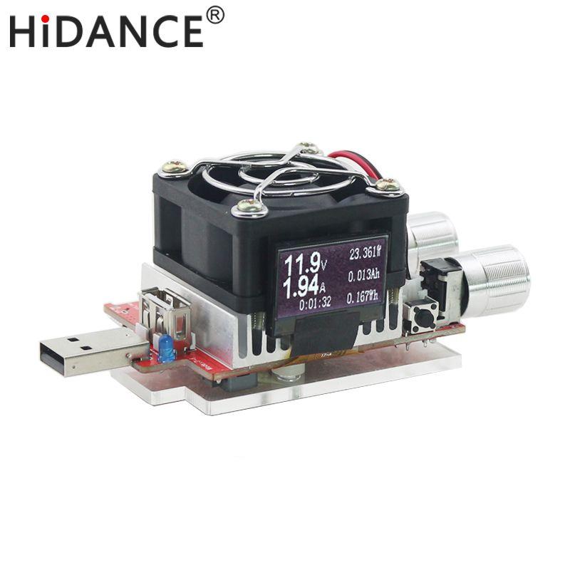 Usb charge électronique réglable résistance de vieillissement à courant constant 35 w testeur de capacité de tension de batterie voltmètre qualcomm qc2.0/3.0