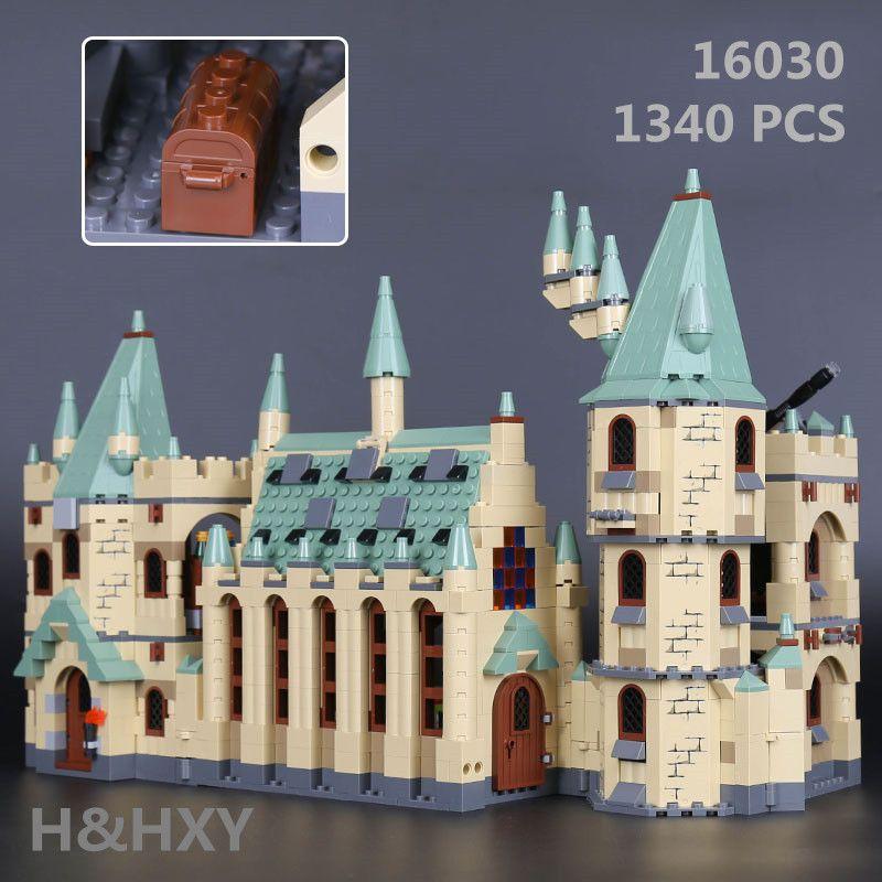 В наличии H & HXY 16030 1340 шт. Творческий фильмы серии Замок Хогвартс комплект Лепин Модель Building Block детская игрушка подарок 4842