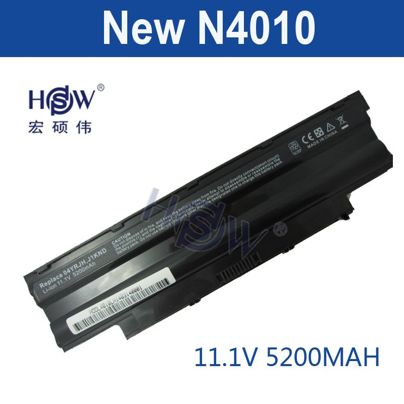 HSW New Laptop Battery For Dell Inspiron M4040 M411R M5040 M511R N3110 N4050 N4120 N5050 Vostro 1450 1440 1540 1550 3450 3550