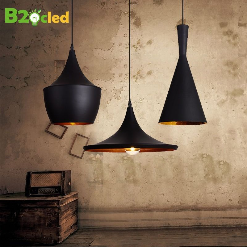Pendant light Vintage Style lamp European Industrial Wind E27 base droplight for restaurant home decoration Guest Room LED bulb