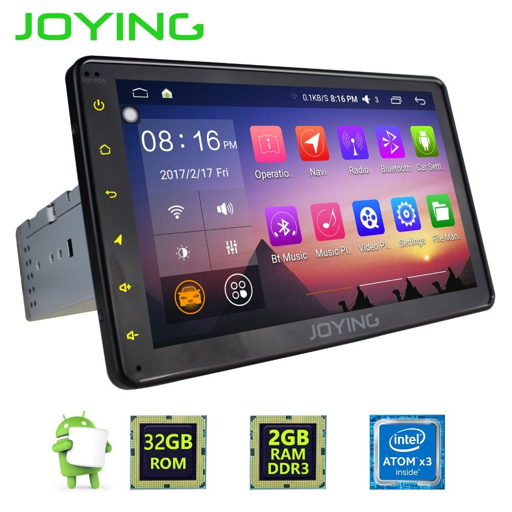 JOYING Latest 8 '' inch Single 1 din Universal Touch screen car radio player Android 6.0 car audio stereo HD SWC GPS Navigation