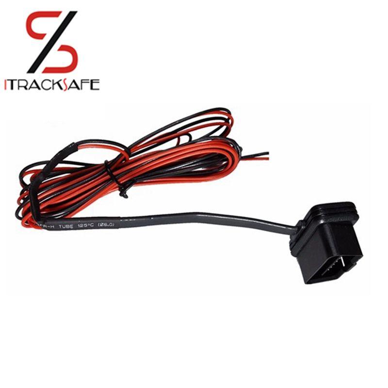 Câble d'extension d'adaptateur d'alimentation OBD OBD2 OBDII 16 broches pour traqueur GPS 12 V