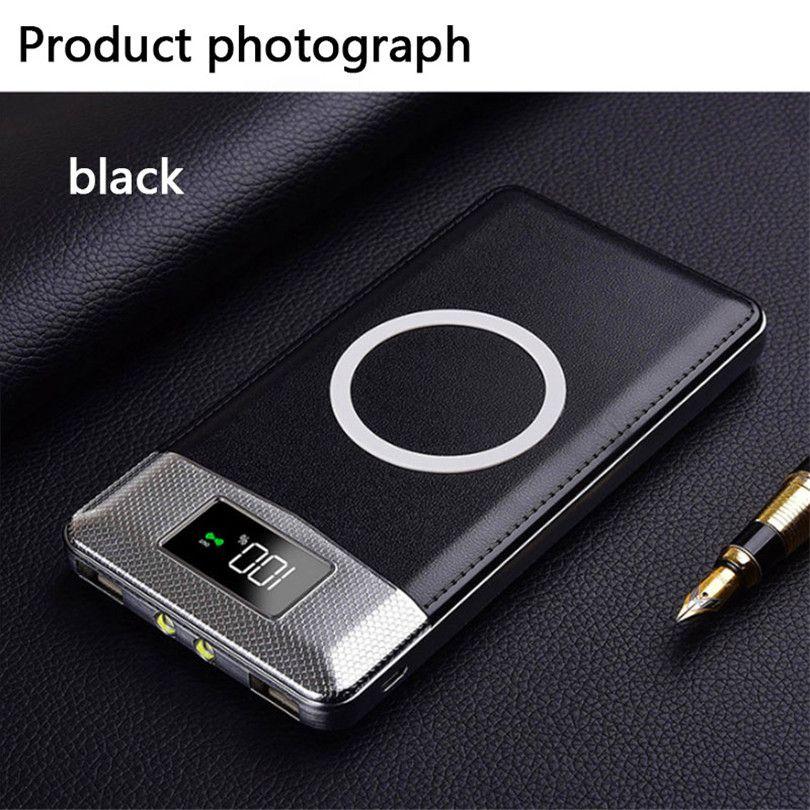 2018 Vente Rapide Charge Sans Fil Puissance Banque Double USB Power Bank 30000 mah Sans Fil Chargeur Powerbank Bateria Externe Portable