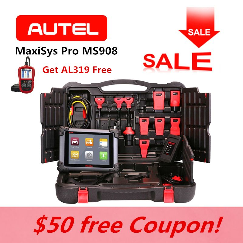 AUTEL MaxiSys Pro MS908 OBD2 Fault Code Reader Auto ECU Coding Car Key Programming Diagnostic Reset same as MY908 AL319 for Gift
