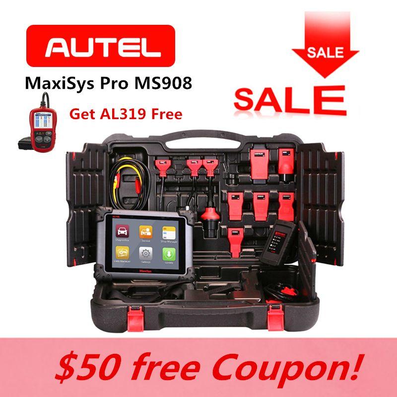 AUTEL MaxiSys Pro MS908 OBD2 Fehler Code Reader Auto ECU Codierung Auto Schlüssel Programmierung Diagnose Reset gleiche wie MY908 AL319 für Geschenk