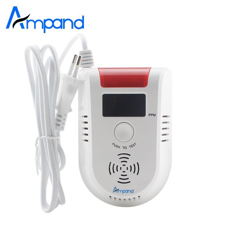 СВЕТОДИОДНЫЙ цифровой Дисплей голос газа сигнализация LPG утечки бытовой детектор Сенсор 1 шт. обнаружить природный газ угольный