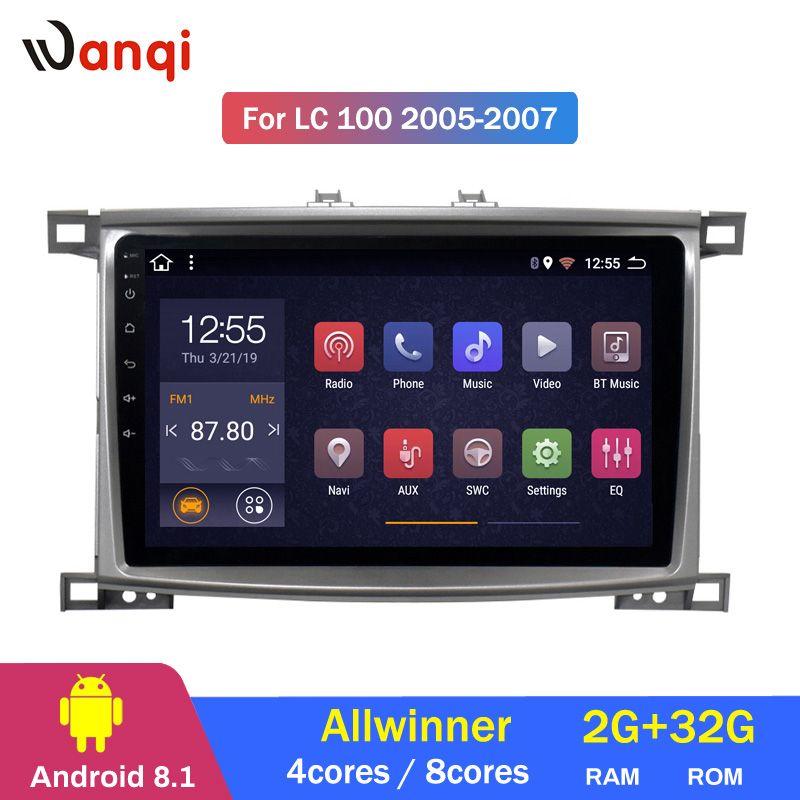 2G RAM 32G ROM Auto-Radio-player für Toyota Land cruiser 100 GX LC 100 Stereo Radio Navigation kopf Einheit