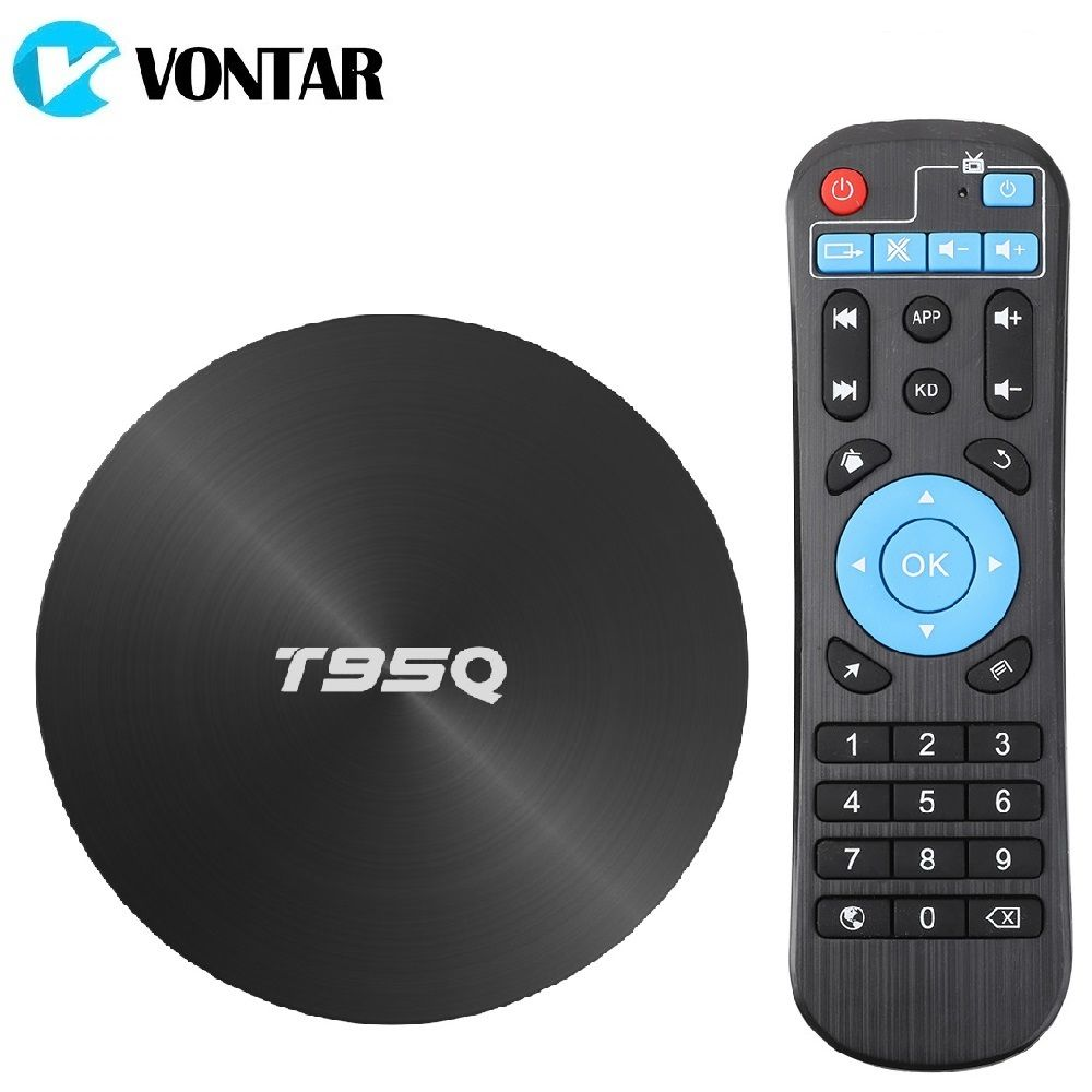T95Q TV BOX Android 9.0 4GB 32GB 64GB Android 8.1 Smart TV Box Amlogic S905X2 Quad Core 2.4G&5GHz Wifi BT 100M 4K Media Player