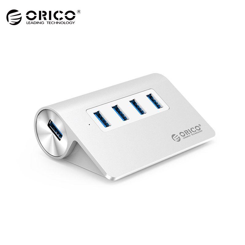 ORICO USB 3,0 концентратор супер скорость 4 порта микро Внешний Usb концентратор разветвитель портативный для Apple Macbook Air ноутбук ПК планшет концент...