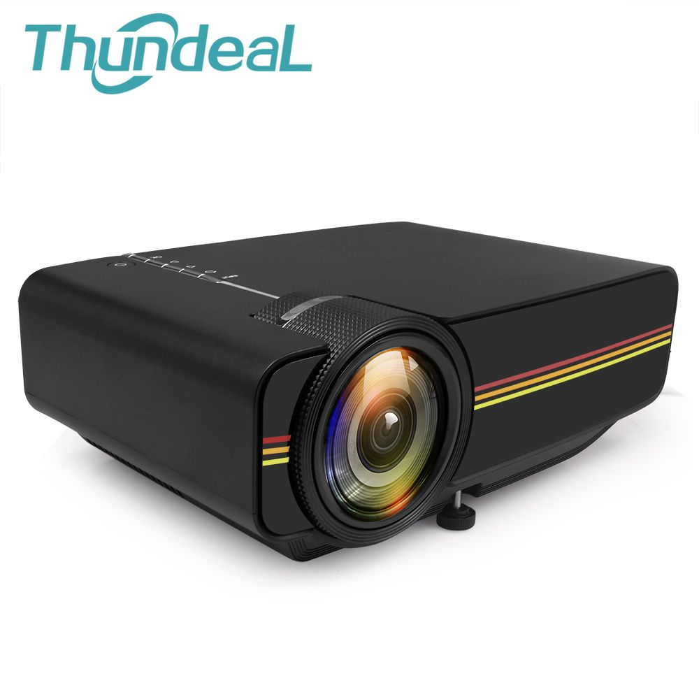 ThundeaL YG400 up YG400A Mini Projector Wired Sync Display More stable than WIFI Beamer For Home Theatre Movie AC3 HDMI VGA USB