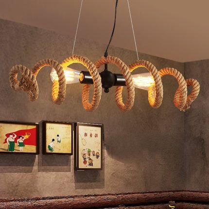 Nordic retro industrie Loft rohr seil kronleuchter cafe bar personalisierte kleidung shop Kronleuchter lampe