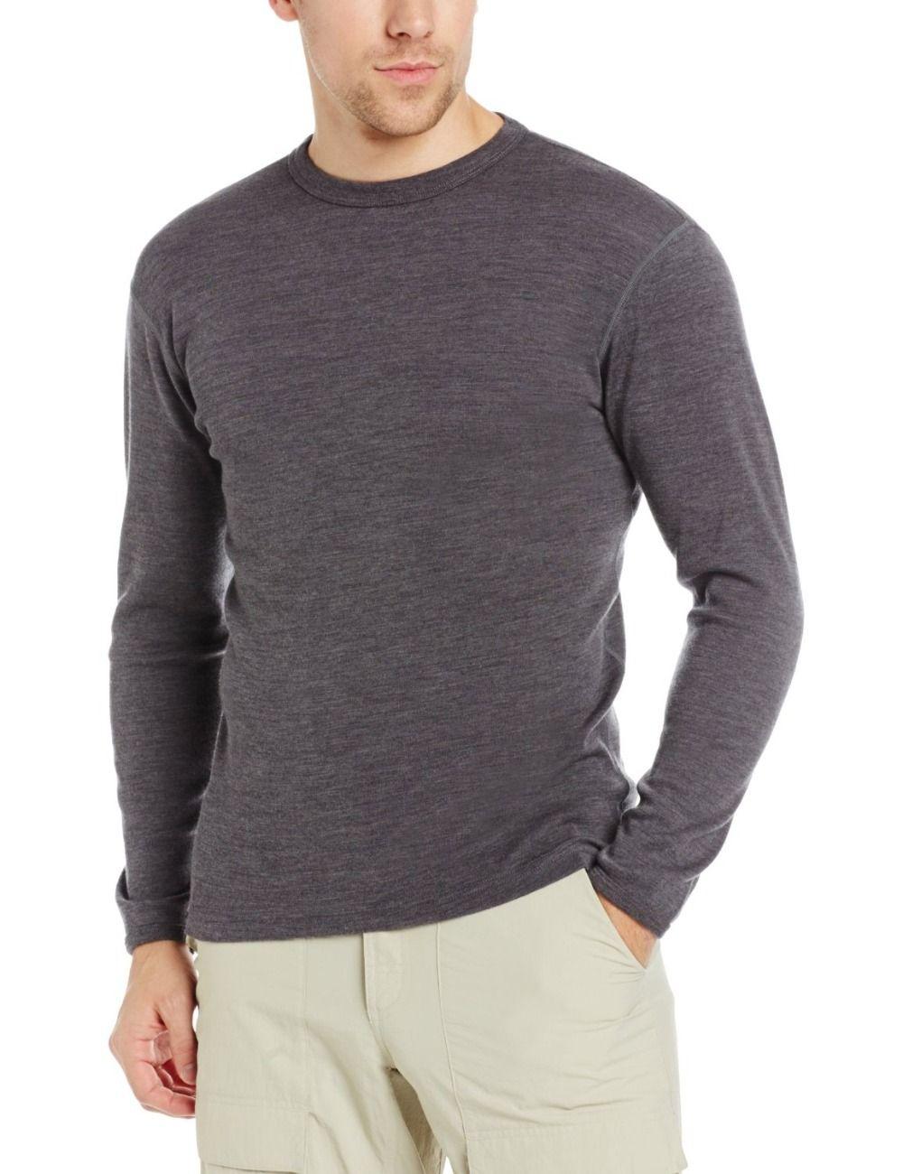 Мужской чистый 100% новый мериносовой шерсти Для мужчин Подогнутым экипажа одежда с длинным рукавом теплая зимняя дышащая Костюмы кардиган Т...