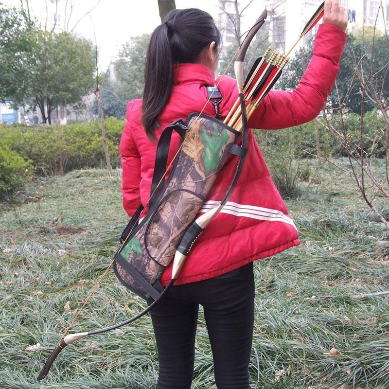 Pouch Caza Arrows Bow Bag Target Hunting Archery Quiver Back Hip Waist Bag Arrow Holder Outdoor Hunting Equipment Useful tools