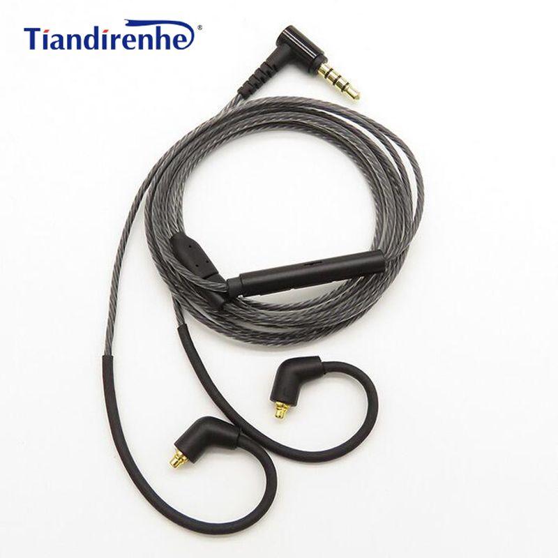 Bricolage Câble MMCX pour Shure SE215 SE535 SE846 UE900 Écouteur Remplacement 0.75mm 2 broches pour ue18 11pro 10pro 7pro 4pro Casque Câble