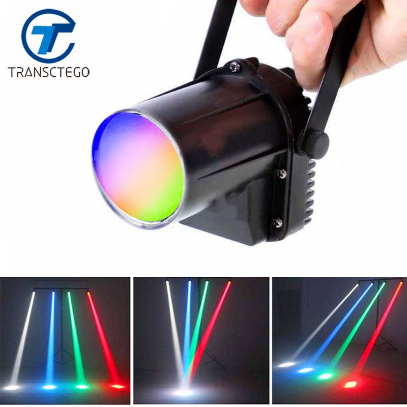 TRANSCTEGO LED disco light spotlight <font><b>beam</b></font> rain lights stage lamp small moving head LED glass balls bars party KTV lighting